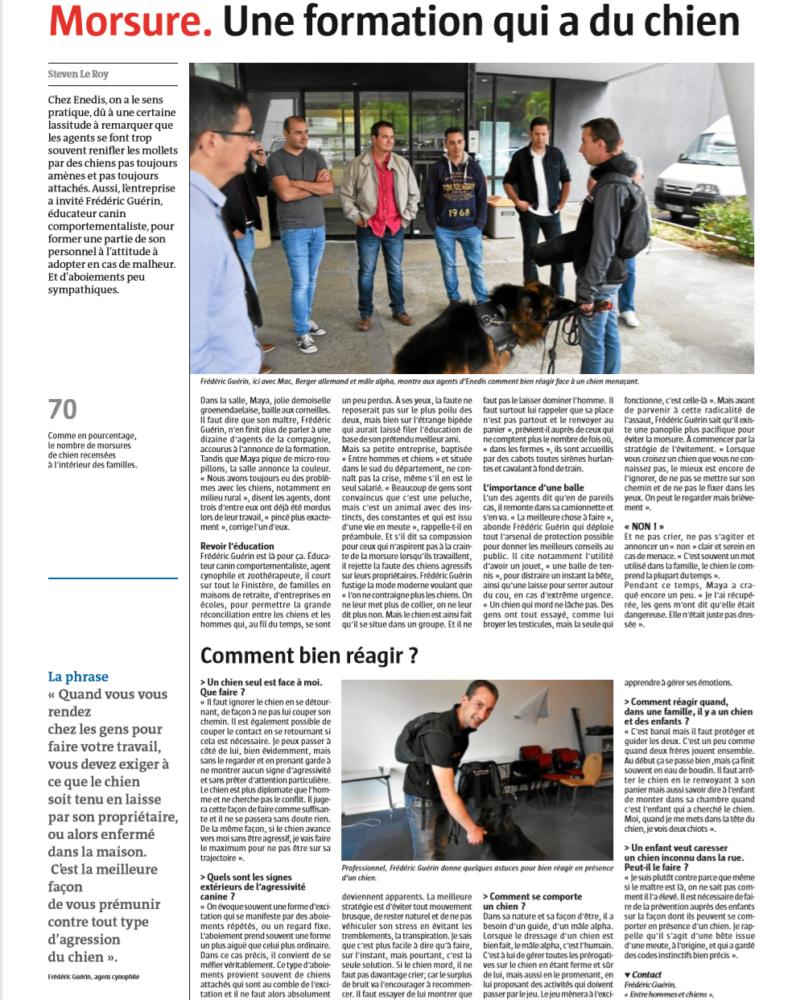 Atelier prévention morsures Enedisl Bretagne