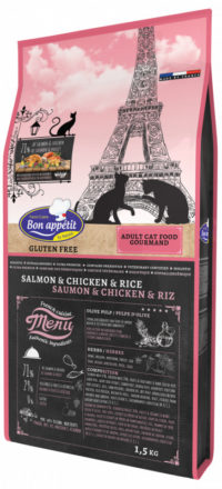 Croquettes pour chat Bon Appetit Gourmand Saumon Poulet Riz