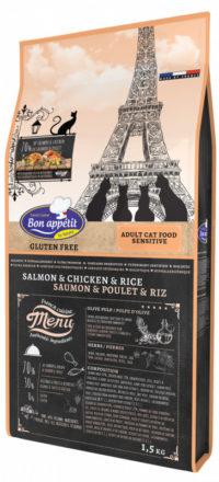 Croquettes pour chat sensible Bon Appetit Sensible Saumon Poulet Riz