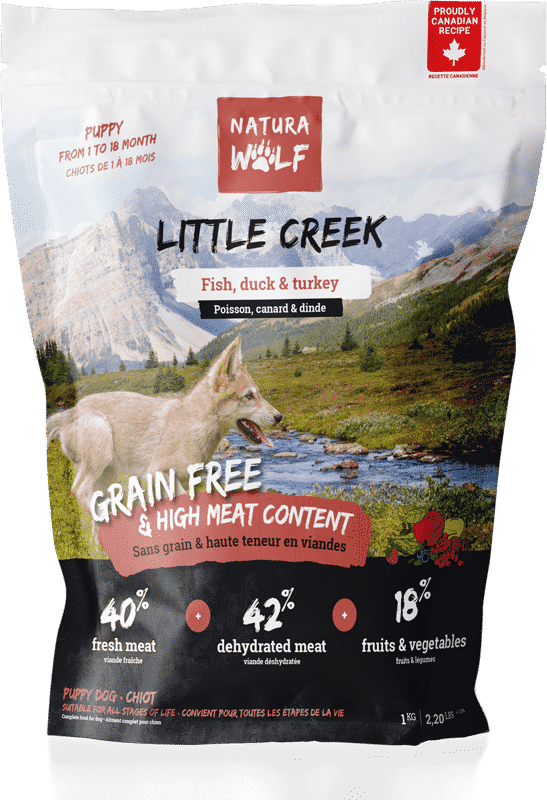 NATURA WOLF Little Creek : Croquettes pour chiot au poisson, canard & dinde