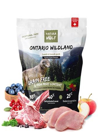 ontario-wildland-croquette pour chien agneau et porc francais