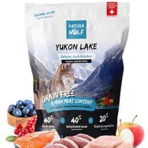 Natura Wolf Yukon Lake : Croquettes pour chien adulte et chien âgé au saumon, canard, dinde