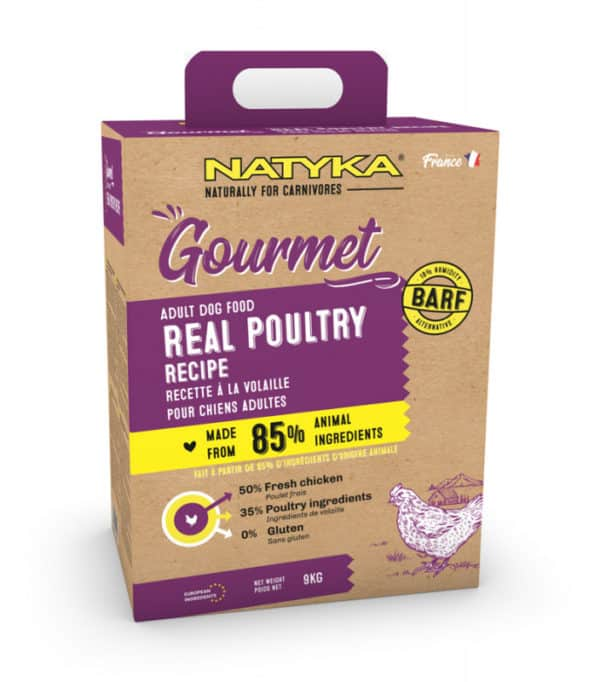 NATYKA Gourmet volaille Aliment complet semi-humide pour chien adulte