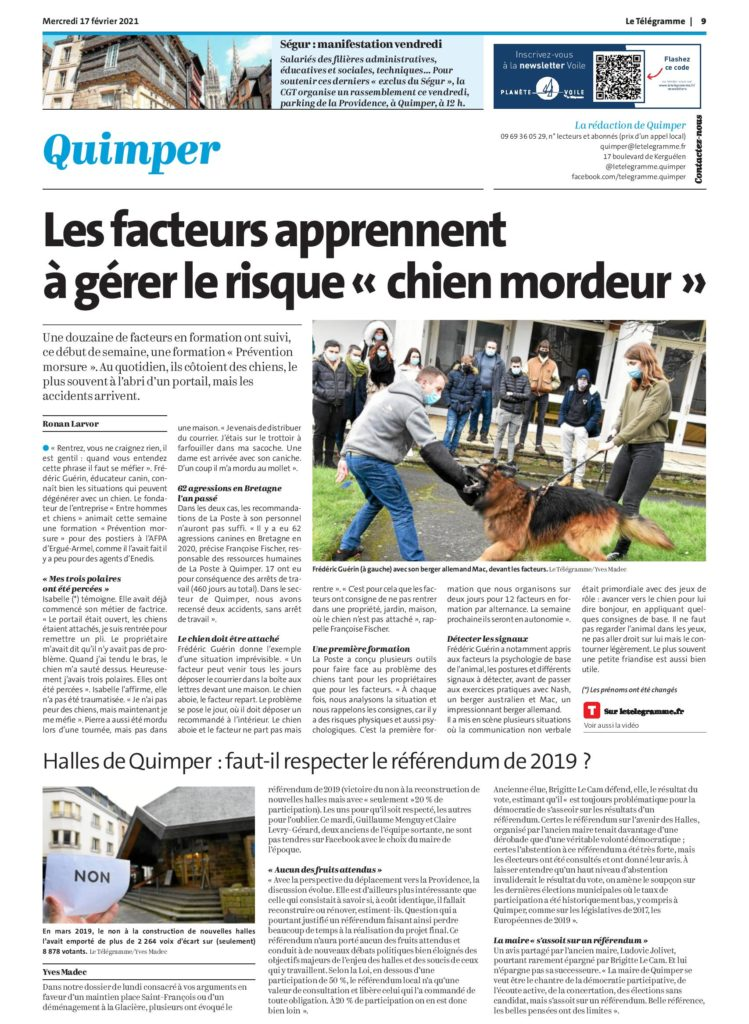 QUIMPER FORMATION RISQUES CANINS